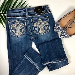 MISS ME Embellished Boot Cut Jeans | Size 26